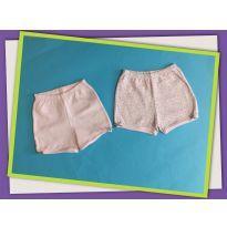 Dois shortinhos rosas - 6 a 9 meses - Pati Mini