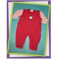 Body vermelho de ursinho - 3 a 6 meses - Baby fashion