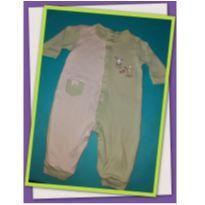 Body verde de coelho - 3 a 6 meses - Não informada