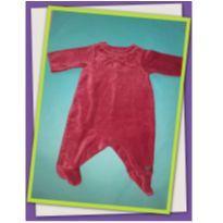 Body vermelho de veludo - 0 a 3 meses - Green