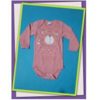 Body de ursinho rosa - 9 a 12 meses - Pati Mini