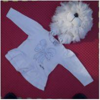 Blusa Branca Babados - 6 a 9 meses - Tilly Baby