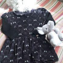Vestido de veludo preto - 2 anos - Carinhoso