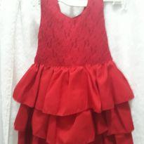 Vestido vermelho perfeito para Natal - 12 a 18 meses - Petit Cherie