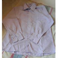 Camisa Social Lilás Dorinhos. - 14 anos - Não informada