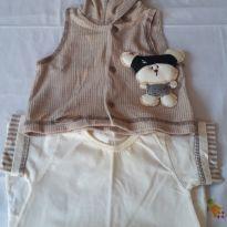Macacão com colete - 3 a 6 meses - By Gabriely Baby