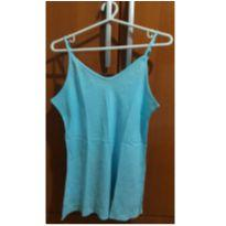 Blusa Alcinha Azul - G - 44 - 46 - Não informada