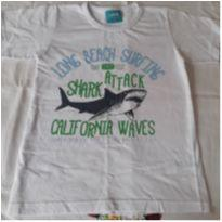 Camiseta Branca Cauã - 8 anos - Cauã Kids