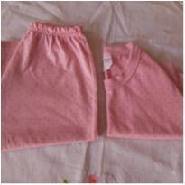 Pijama de bolinha - 2 anos - Não informada