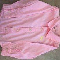 Camisa social rosa TAM 2 tulye e charpey - 2 anos - Tulye e Charpey