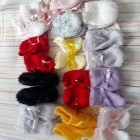 Sapatinhos de crochê e plush - 13 - Artesanal