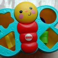 Borboleta Colorida Fisher Price- blocos de encaixar -  - Fisher Price