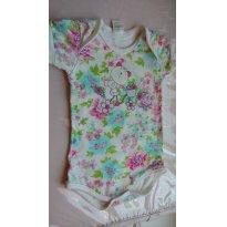 Body manga curta- tecido fresquinho - 1 ano - Petutinha