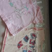 Camisa manga curta- kit com 02 unidades. Novinhas! - 1 ano - Não informada