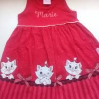 Vestido Gatinha Marie- Novo - 2 anos - Disney