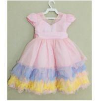 Vestido de Festa Chuva de Amor - 1 ano - Menina Bonita
