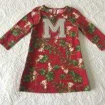 Vestido fofo Macaquinhos - 1 ano - Momi e MOMIS petit