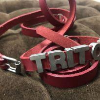 Cinto de couro triton duas voltas -  - triton