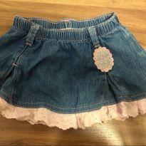 Saia jeans lilica ripilica - 3 a 6 meses - Lilica Ripilica Baby