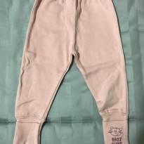 Calça rosa com gatinho bordado no pezinho - 6 meses - Patimini