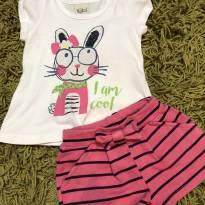 Conjunto shorts e blusa coelhinho - 1 ano - KiKA