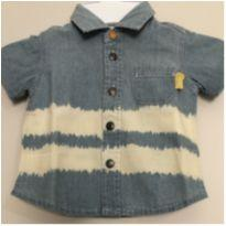 Camisa jeans - 0 a 3 meses - Chicco