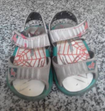Kit 2 Sapatos menino: 1 papeche +1 chinelo  Homem Aranha - 17 - Grendene