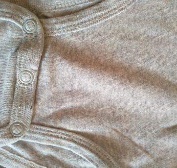 Body cinza manga comprida Carter`s - 6 a 9 meses - Carter`s