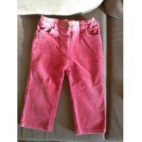 Calça rosa veludo cotele - 6 a 9 meses - Baby Club