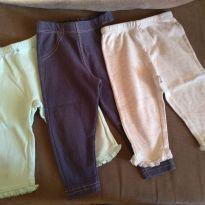 Kit 3 calças Carter`s e Hering menina - 9 a 12 meses - Carter`s e Hering