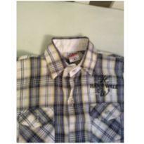 Camisa xadrez manga curta menino