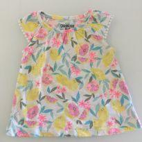 Charmosa blusinha floral - 9 a 12 meses - Carter`s