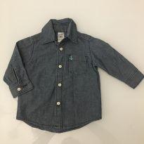 Camisa de botão manga longa - 6 a 9 meses - Carter`s