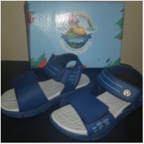 Lindíssima sandália menino - marinho c/ detalhes  - tam 29 - coleção 2020 Nova - 29 - Ortopé