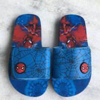 Sandalia com velcro homem aranha nunca usada - 25 - Não informada