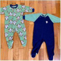 Pijamas de ziper e fleece - 9 a 12 meses - Gerber
