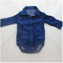 Body Camisa Jeans - 3 meses - Baby Club