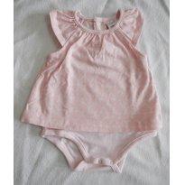 Ahhh que Calor - Body Vestido sem manga - estampa corações rosas! - 0 a 3 meses - Não informada