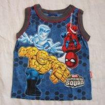 Camiseta Regata Infantil Super Heróis para Verão!  (Marvel - Tam 1) - 1 ano - MARVEL
