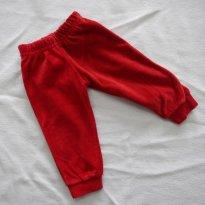 Macia!!!! Calça de veludo vermelha - Tam P - 3 meses - V.P.I.R