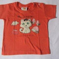 Camiseta Gatinha Fofa - 3 meses - Nini e Bambini