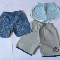 Dias quentes com bermuda/Short! 3 itens - Tam M-1ano - 9 a 12 meses - Diversos