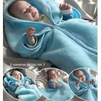 Acalma e aquece! Manta para vestir bebê! 3 em 1 - Urso branco. -  - Não informada
