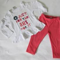 HERING Kids - Conjunto blusa manga longa e calça -Just for the Art of IT!  Tam 1 - 1 ano - Hering Kids