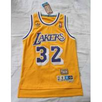 NOVA!!! Camisa Regata Adidas - Los Angeles Lakers - 32 Magic Johnson - Tam P - 14 anos - Adidas
