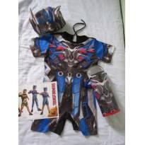 Carnaval!! Fantasia macacão Transformers - Optimus Prime - Tam M (3 a 4 anos) - 3 anos - Fantasias  Sulamericana
