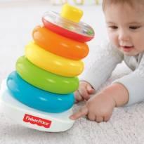 [Fisher Price] Piramide de Argolas - Brinquedo para crianças de 6 a 36meses -  - Fisher Price
