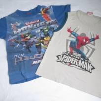 Camiseta + Regata dos Heróis - Meninos - 4 anos - 4 anos - Malwee  e outras