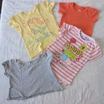 Linda 1 Blusinha Tip Top (2T) e mais 3 blusinhas (Tam 3) !!! - 2 anos - Tip Top e Bambini