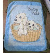 Cobertor Infantil quentinho e felpudo - Azul - Cachorrinhos Baby Pets - Sem faixa etaria - jolitex